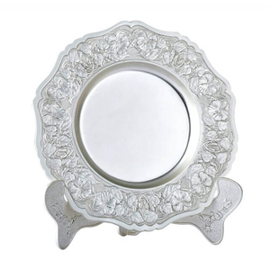 Customized Decorative Silver Souvenir Plate