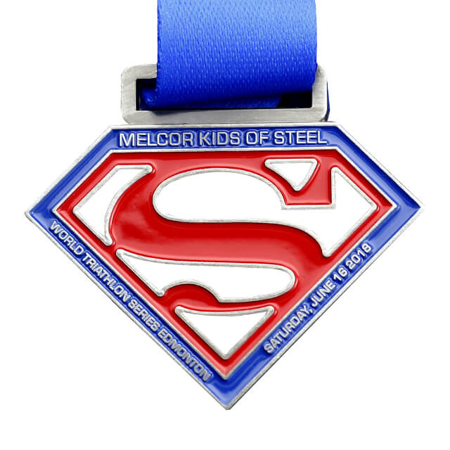 Personalised Hollowed Out Metal Superman Medals