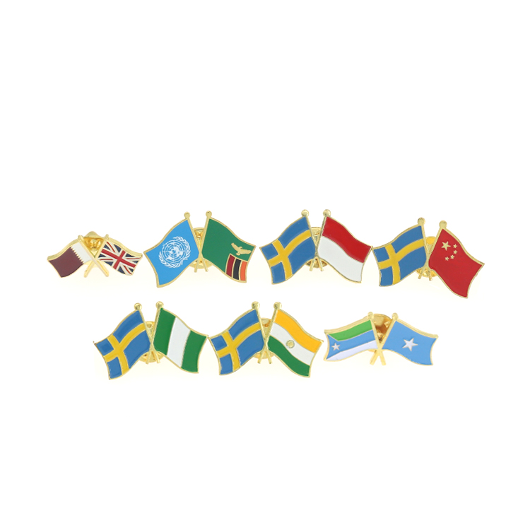 Custom Country Flags Enamel Lapel Pins