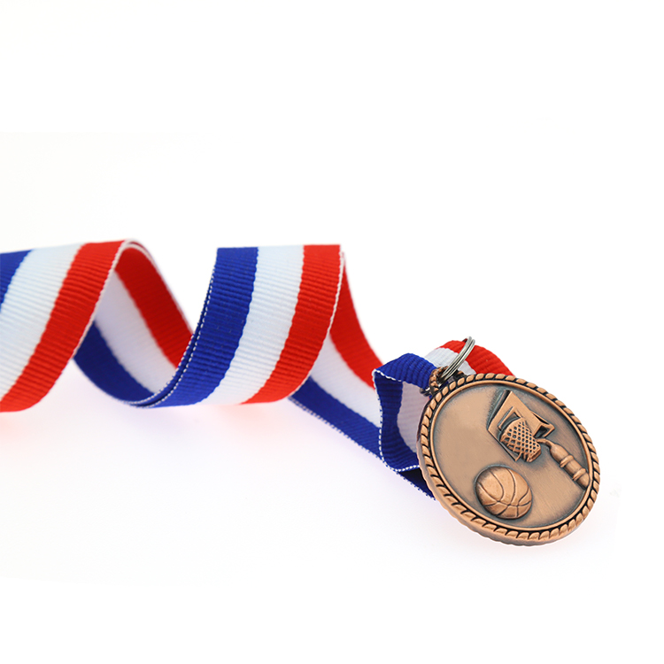 Custom Carved Basketball Souvenir Metal Blank Medal