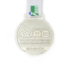 Zinc Alloy Award Metal Souvenir Medal with Ribbon