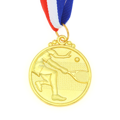 Stock Blank Gold Tennis Sports Medals