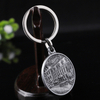 Wholesale Men Shaped Antique Silver Coin Souvenir Keychain