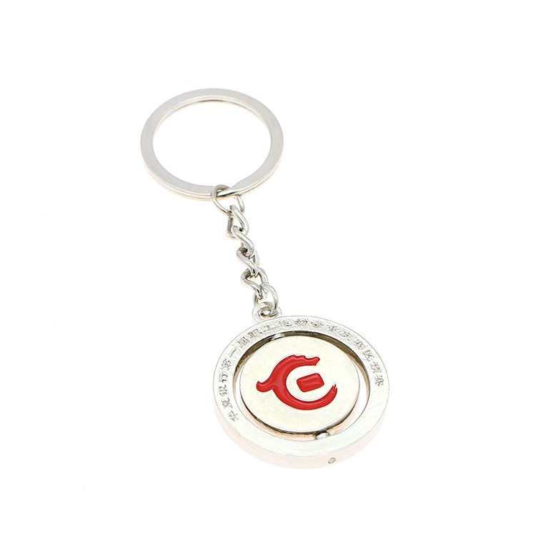 Silver Letter Enamel Marvel Holder Keychain Custom Logo