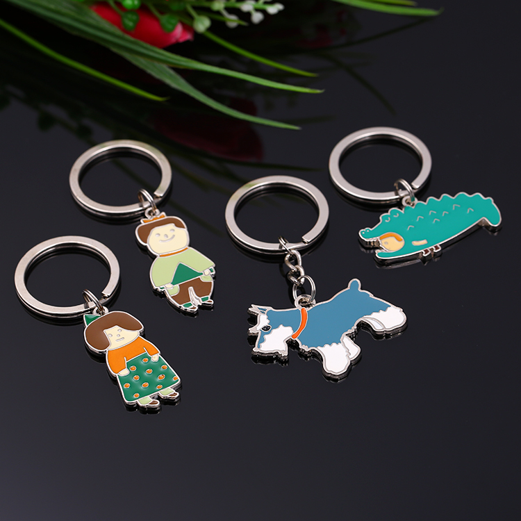 Wholesale Love Custom Enamel Metal Cast Keychain