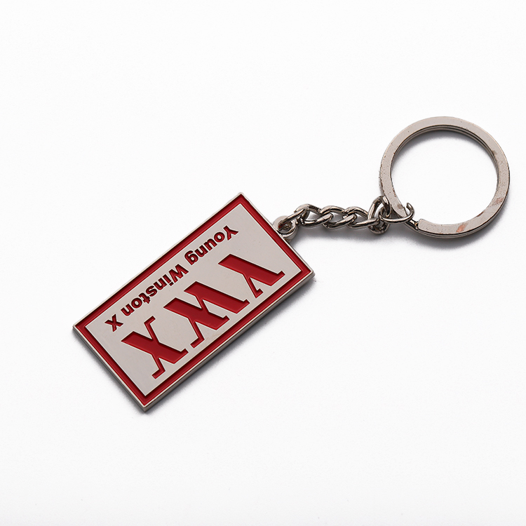 English Letters Alphabet Key Chain Letter Card Keychain