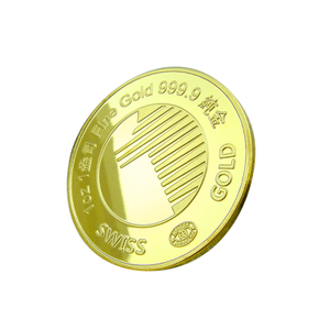 Gold 24k Pure Golden Coin Bank Souvenir Medallion Coins