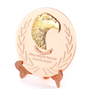 Custom Metal Qatar Eagle Logo Rose Gold Souvenir Metal Plate
