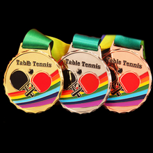 Stock Custom Cheap Blank Table Tennis Medal