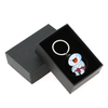Cheap Custom Cartoon Design Black Colors Plating Soft Enamel Keychain