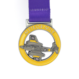 Special Custom Metal Plated Cute Plane Medal