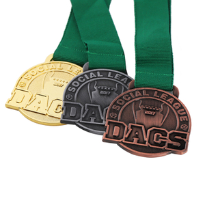 Gold Silver And Bronze Long Service Running Dia Casting Metal Medal
