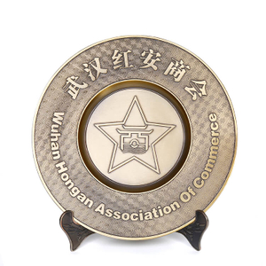 Customized Bronze Zinc Alloy Plates Logos Metal Souvenir Plate