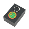 Custom Design Round Shape Metal Soft Enamel Funky Keychains with Gift Box
