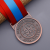 Custom Antique Gold Russian Angel Sports Medal for Marathon