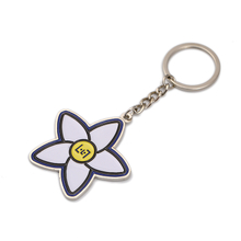 Quality Promotional Custom 3d Metal Custom Enamel Flower Keychain