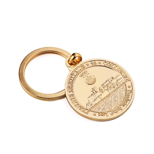Metal Manufacturers Zinc Alloy Key Ring Gold Plate Keychain