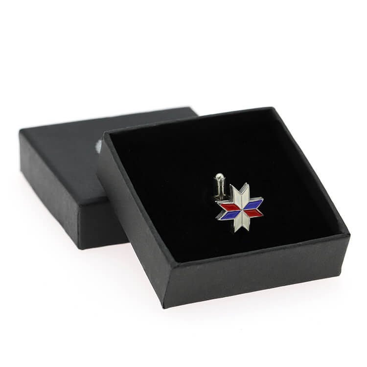 Brass Soft Enamel Metal Mens Shirt Cufflink Set