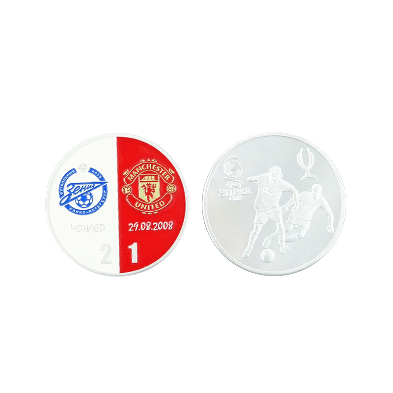 Coin Football Chiness Soccer Challenge Silver Values Souvenir Medallion Coins