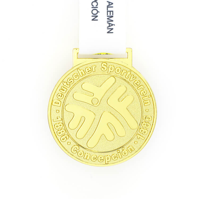Gold Metal Medal With Marathon