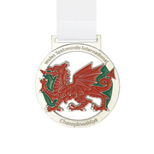 Special Custom Antique Dragon Round Shape Memorial Medal