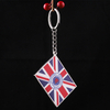 Country Flag Keychain Logo Aluminium Key Chain