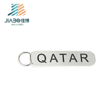 Qatar Design Keychains Stock Sales Soft Enamel Key Ring