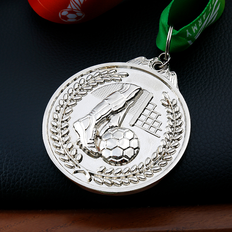Custom Antique Gold Nigeria Angel Sports Medal for Football