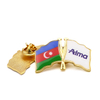 India Flag Pakistan American 24k Gold Plated Badge