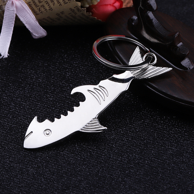 Fish Hook Chain Keyring Aluminium Key Holder Keychain Gift